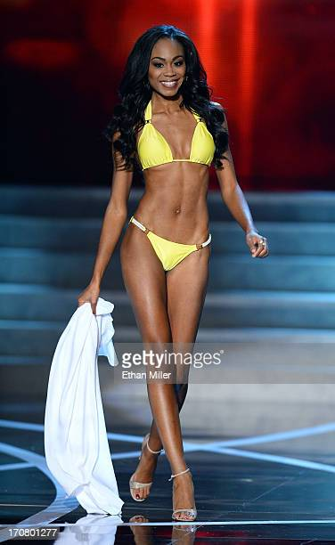 Miss North Carolina USA Ashley LoveMills competes in the swimsuit competition during the 2013 Miss USA pageant at PH Live at Planet Hollywood Resort...