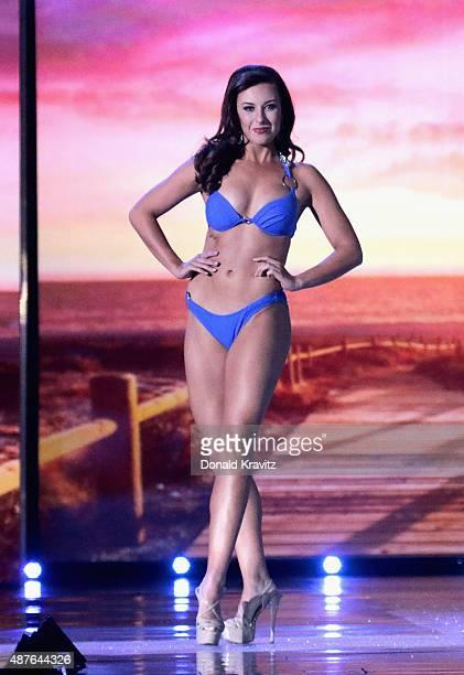 Miss North Dakota, Delanie Wiedrich attends the Thursday Night Preliminaries - 2016 Miss America Competition at Atlantic City Boardwalk Hall on...