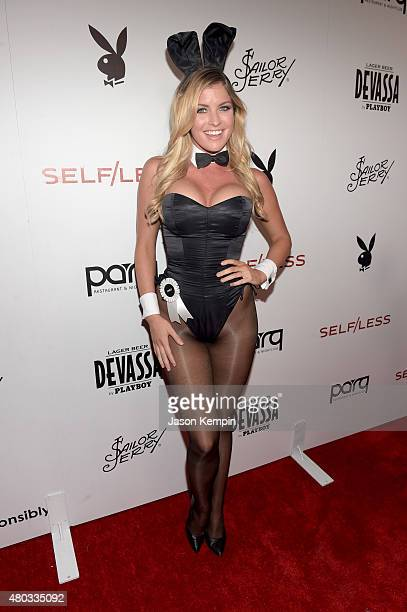 Miss October 2013 Carly Lauren attends Playboy and Gramercy Pictures' Self/less party during ComicCon weekend at Parq Restaurant Nightclub on July 10...