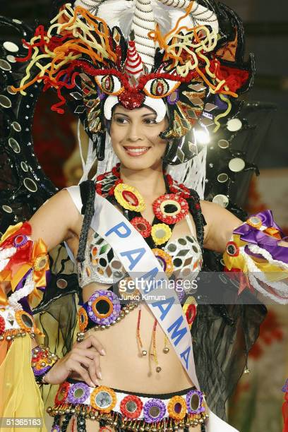 Miss Panama Anabella Hale attends a press preview of the 2004 Miss International Beauty Pageant on September 28 2004 in Tokyo Japan The pageant that...