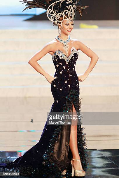 Miss Paraguay Egni Eckert displays her national costume at the 2012 Miss Universe National Costume event at Planet Hollywood Casino Resort on...