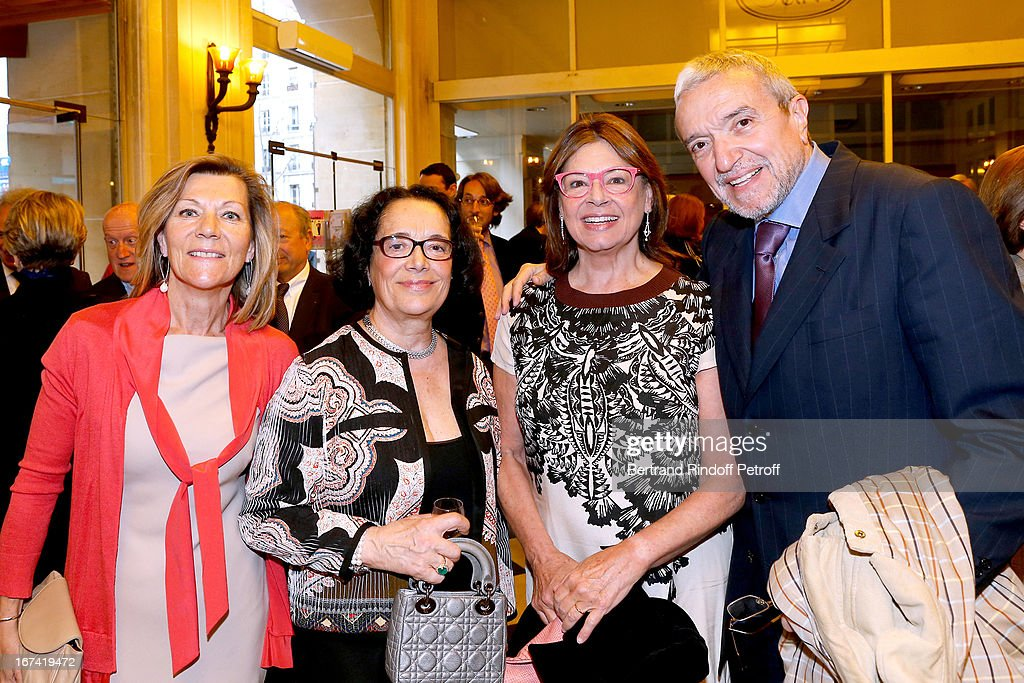 Miss Patrick De Carolis, Chantal Fournier, Ruggiero Raimondi and his wife Isabelle Raimondi attend Salle Gaveau 105th Anniversary on April 24, 2013 in Paris, France.
