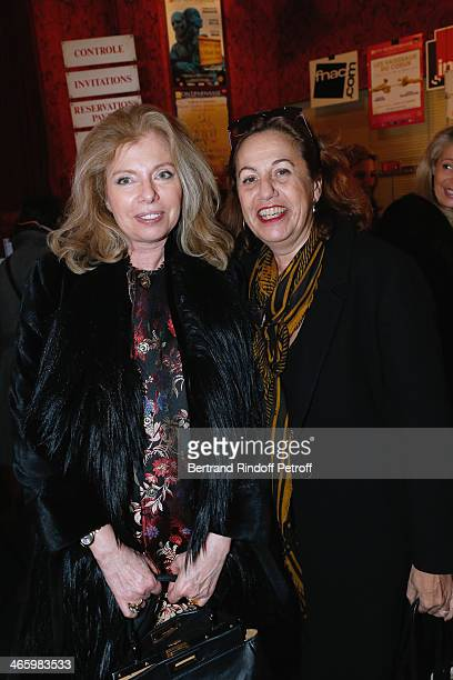 Miss Patrick Le Lay and Guest attend 'Un Temps De Chien' Theater Gala Premiere to Benefit ARSEP Foundation Held at Theatre Montparnasse on January 30...