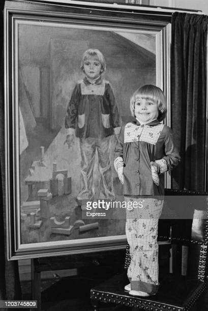 'Miss Pears 1974' Katie Goodwin unveils her portrait painted by June Mendoza during a ceremony at Painters' Hall in the City of London England 26th...