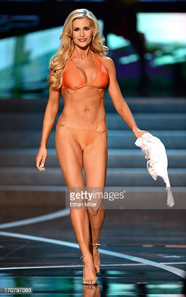 Miss Pennsylvania USA Jessica Billings competes in the swimsuit competition during the 2013 Miss USA pageant at PH Live at Planet Hollywood Resort...