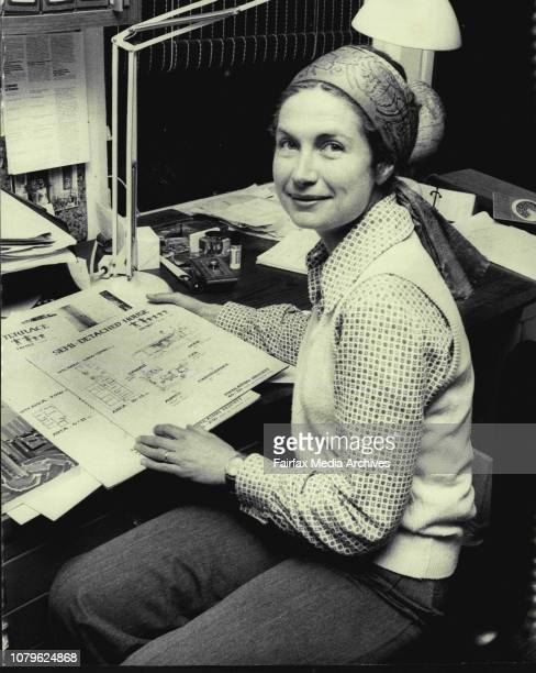 Miss Penny Pike who works for the Leichardt Council and is about to be dismissed pictured at her Balmain home this evening October 17 1974