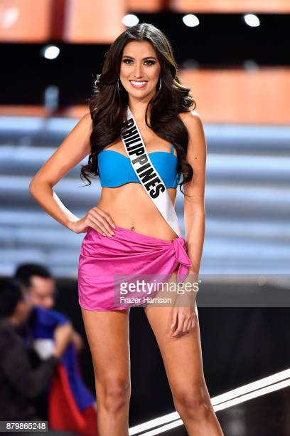 Miss Philippines 2017 Rachel Peters is named a top 10 finalist during the 2017 Miss Universe Pageant at The Axis at Planet Hollywood Resort & Casino...