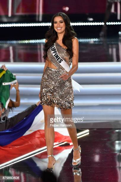 Miss Philippines 2017 Rachel Peters is named a top 16 finalist during the 2017 Miss Universe Pageant at The Axis at Planet Hollywood Resort Casino on...