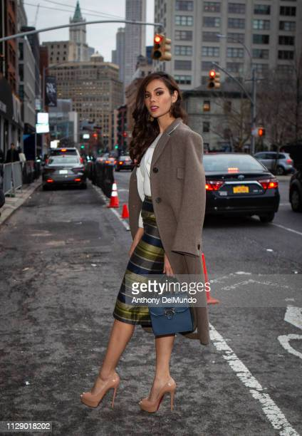 Miss Philippines Catriona Gray who was crowned Miss Universe 2018 attends Bibhu Mohapatra fall 2019 runway show during New York Fashion Week held...