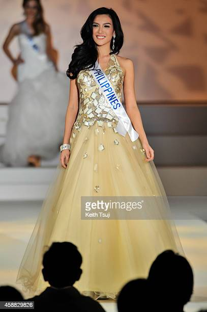 Miss Philippines Mary Anne Bianca Guidotti competes during The 54th Miss International Beauty Pageant 2014 at Grand Prince Hotel New Takanawa on...