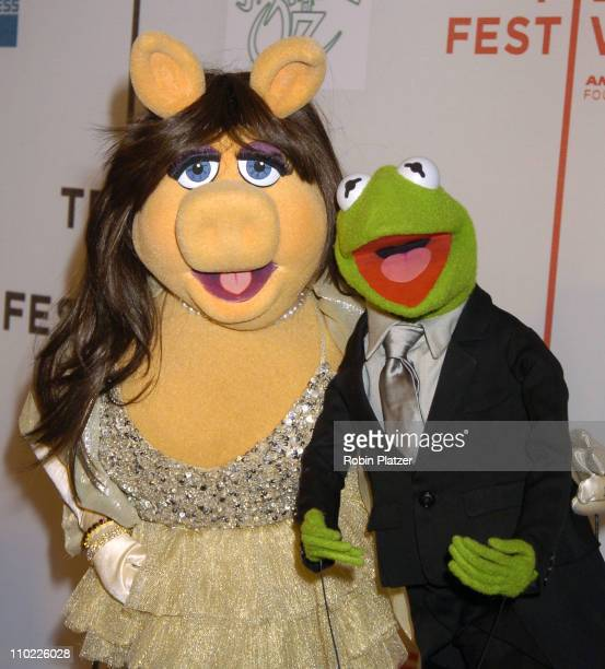 Miss Piggy and Kermit the Frog during 4th Annual Tribeca Film Festival 'The Muppets' Wizard of Oz' Premiere at The Tribeca Performing Arts Center in...