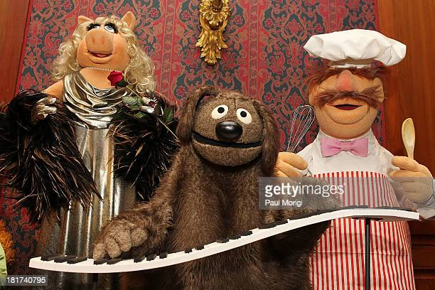 Miss Piggy Grover and The Swedish Chef on display at a special National Museum of American History ceremony to receive more than 20 puppets and props...