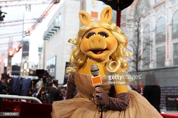 Miss Piggy of The Muppets attends The Orange British Academy Film Awards 2012 at The Royal Opera House on February 12 2012 in London England