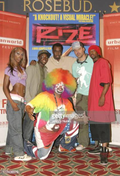 """Miss Prissy, Larry the Clown, Sean """"P. Diddy"""" Combs, David LaChapelle, Lil C and Tommy the Clown"""