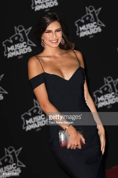 Miss Provence 2017 Kleofina Pnishi arrives at the 19th NRJ Music Awards ceremony at the Palais des Festivals on November 4 2017 in Cannes France