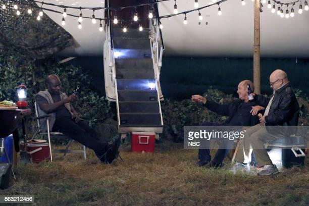 THE BLACKLIST 'Miss Rebecca Thrall' Episode 503 Pictured Hisham Tawfiq as Dembe Zuma James Spader as Raymond 'Red' Reddington Clark Middleton as Glen...