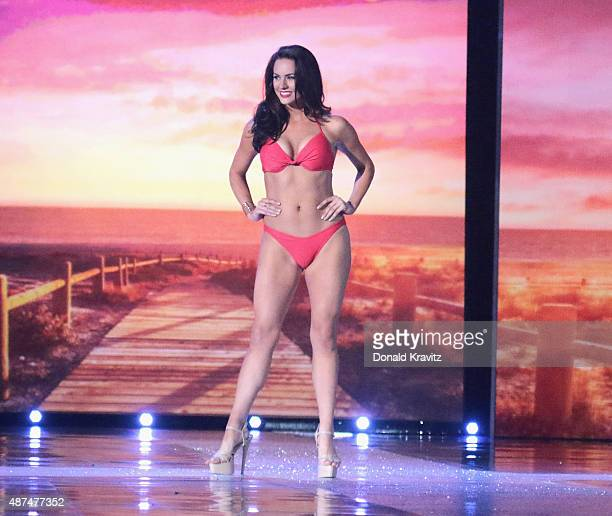 Miss Rhode Island Alexandra Curtis attends the Wednesday Night Preliminaries 2016 Miss America Competition at Atlantic City Boardwalk Hall on...