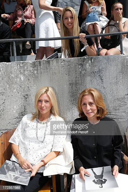 Miss Robert Miller and her daughter Princess MarieChantal de Grece and her granddaughter Olympia attend the Chanel show as part of Paris Fashion Week...