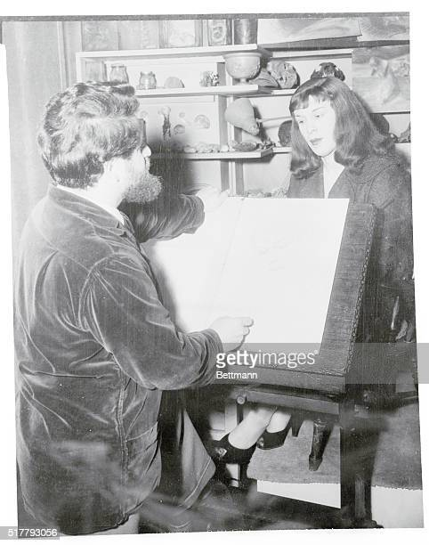 Miss Roberta Cowell Had Her Portrait Painted. London, England: Nicholas Egon, the famous portrait painter, is at the moment engaged upon a portrait...