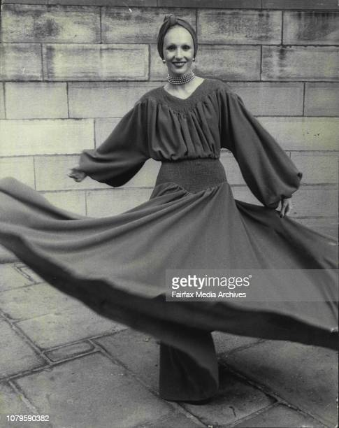 """Miss Robyn Mason.. """"Right up to date"""" prize of $25.30 garments were entered in this years """"Australian wool corporation-student Design Award"""". First..."""