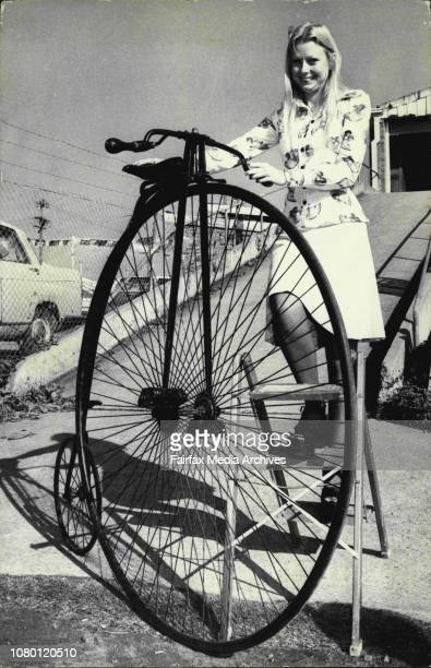 Miss Robyn Maxwell 21 of North Rocks with a Penny Farthing bike which was made in England about 1870The bike is to be part of an auction this...