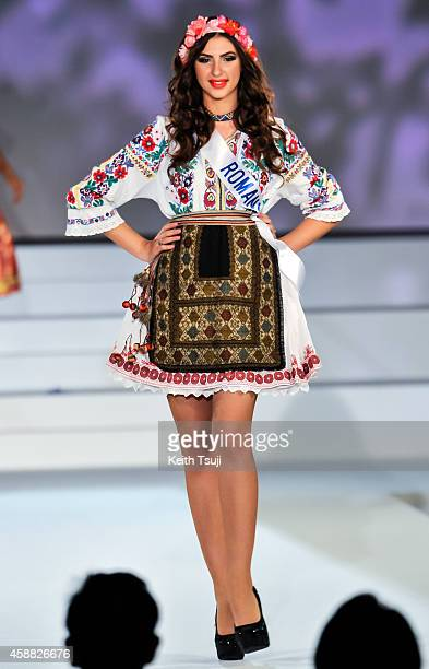 Miss Romania Anca Francesca Neculaiasa competes during The 54th Miss International Beauty Pageant 2014 at Grand Prince Hotel New Takanawa on November...