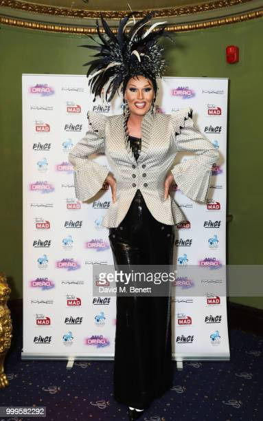 Christopher Biggins Hayley Tamaddon Miss Rory Harriet Thorpe Jenni The Vixen Ryan and Tom Reid Wilson attend 'A MAD Drag Night' at Cafe de Paris on...