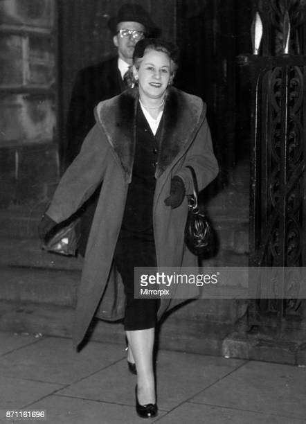 Miss Rose Heilbron seen here leaving Stafford Assizes after her first case as Recorder for Burnley 30th November 1956