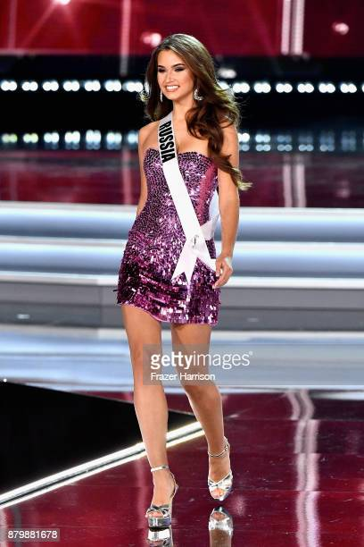 Miss Russia 2017 Kseniya Alexandrova competes during the 2017 Miss Universe Pageant at The Axis at Planet Hollywood Resort Casino on November 26 2017...