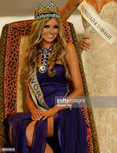Miss Russia Kseniya Sukhinova wins the 58th Miss World at Sandton Convention Centre on December 13 2008 in Johannesburg South Africa