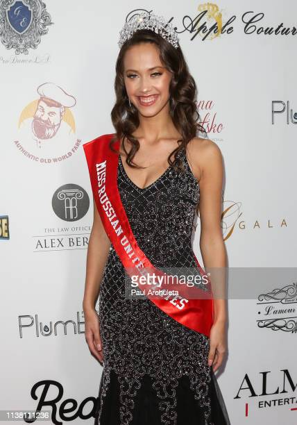 Miss Russian USA 2018 Polina Egorov attends the 8th annual Miss Russian LA 2019 at Taglyan Cultural Complex on March 24 2019 in Hollywood California