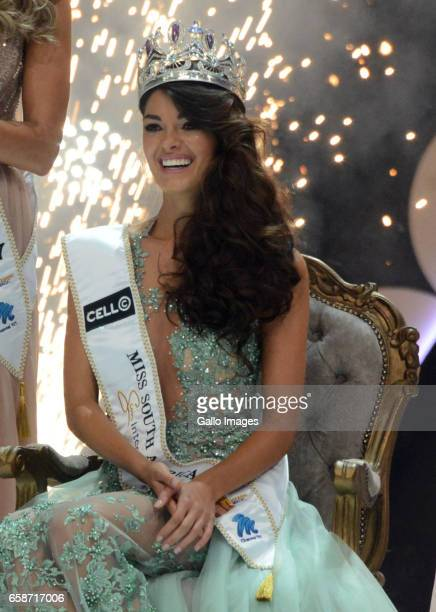 Miss SA 2017 DemiLeigh NelPeters during the crowning of Miss SA 2017 beauty pageant at Sun City Superbowl on March 26 2017 in Rustenburg South Africa...
