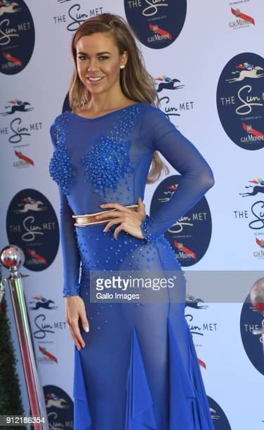 Miss SA Adé van Heerden during the 2018 Sun Met at Kenilworth Racecourse on January 27 2018 in Cape Town South Africa The 134th edition of the Sun...
