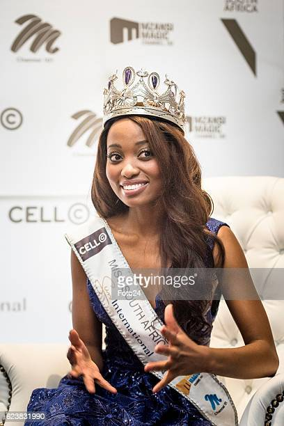 Miss SA Ntandoyenkosi Kunene during her farewell and the reveal of her costumes that she will wear at the Miss World beauty pageant at the Maslow...