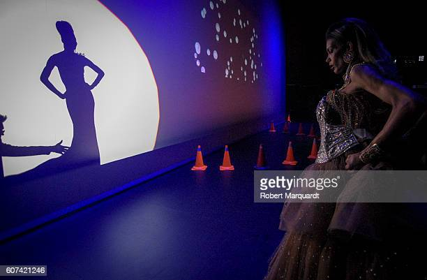 Miss SaHHara of Nigeria backstage during the Miss Trans International 2016 competition on September 17 2016 in Barcelona Spain