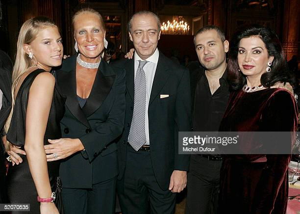 Miss Saperstein and her daughter Fawaz Gruosi Elie Saab and Nazek Hariri attend the Chopard Party at the Intercontinental Hotel as part of Paris...