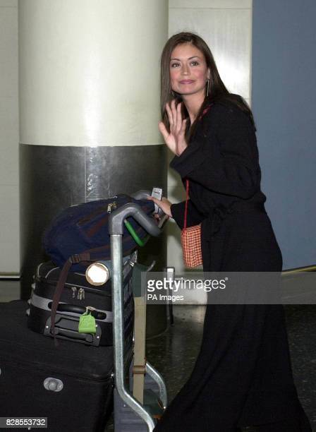 Miss Scotland Paula Murphy arriving at Gatwick Airport in London as she and the other Miss World contestants flew back from Nigeria after civil...