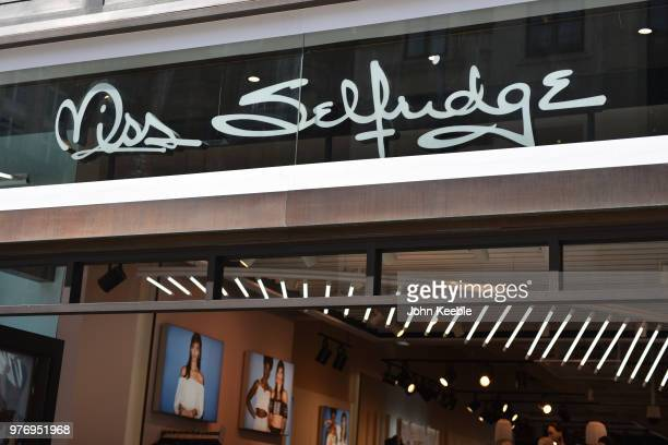 f5c0bddba06e9 Miss Selfridge fashion retail shop sign above the entrance on Oxford Street  on June 11 2018