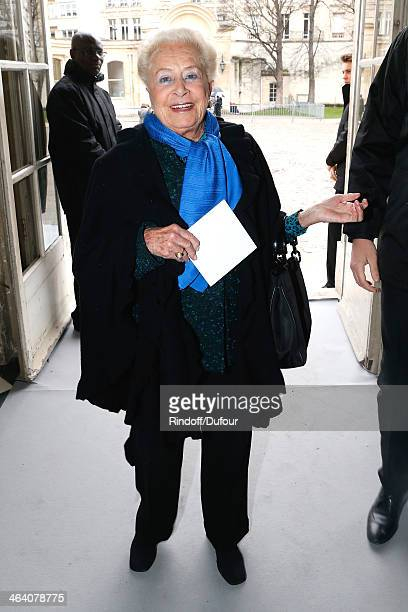 Miss Serge Dassault attends the Christian Dior show as part of Paris Fashion Week Haute Couture Spring/Summer 2014 on January 20 2014 in Paris France