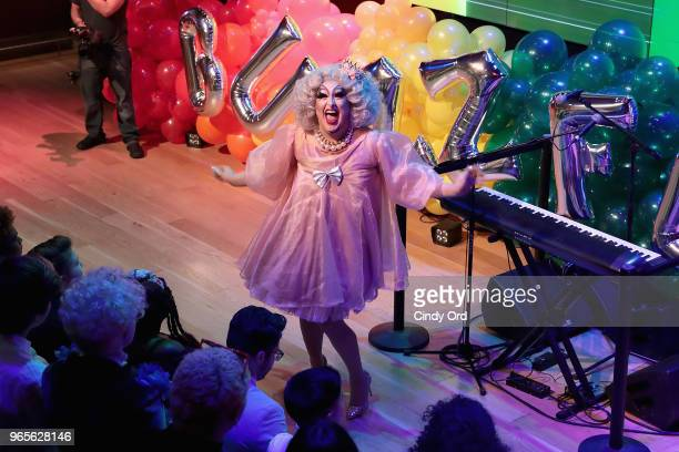 Miss Sherry Pie performs onstage as BuzzFeed hosts its 2nd Annual Queer Prom Powered by Samsung For LGBTQ Youth at Samsung 837 on June 1 2018 in New...