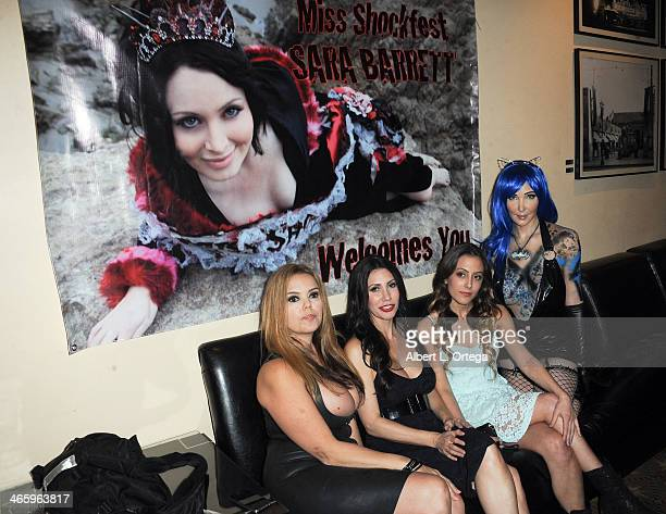 Miss ShockFest contestants Laura Lea Tawny Amber Young Danika Galindo and Diana Prince attend the ShockFest Film Festival Awards held at Raleigh...