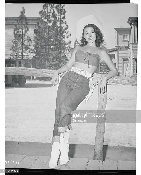 Miss Sidewalk Cowboy of 1955 Universal City Los Angeles California Actress Mara Corday was informed over the weekend that she has been named Miss...