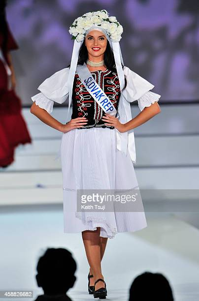 Miss Solvakia Lucia Semankova competes during The 54th Miss International Beauty Pageant 2014 at Grand Prince Hotel New Takanawa on November 11 2014...