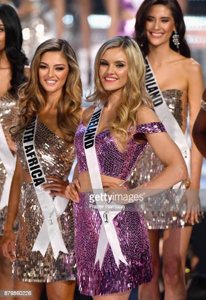 Miss South Africa 2017 DemiLeigh NelPeters Miss Ireland 2017 Cailin Aine Ni Toibin and Miss Thailand 2017 Maria Poonlertlarp are named as top 16...