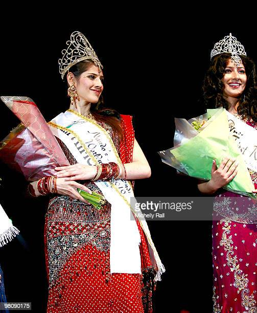 Miss South Africa Kajal Luthchminarain is crowned Winner of the Miss India Worldwide 2010 and Miss UK Niharica Raizada first Princess at the Durban...