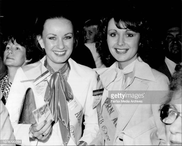 Miss South Aust Andrea Mordney amp Miss WA Julie Costa wait in line to pick Andreas Winnings October 22 1977