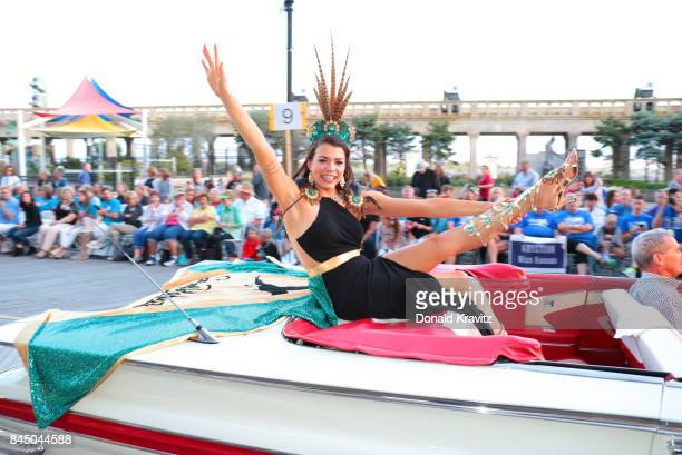 Miss South Dakota 2017 Miranda Mack participates during Miss America 2018 Show Me Your Shoes Parade on September 9 2017 in Atlantic City New Jersey