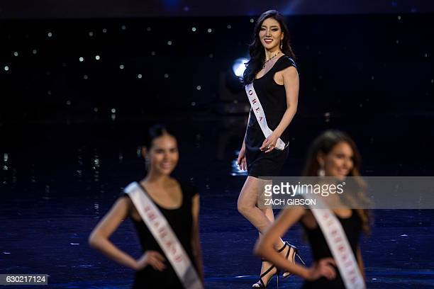 Miss South Korea Hyun Wang is pictured during the Grand Final of the Miss World 2016 pageant at the MGM National Harbor December 18 2016 in Oxon Hill...