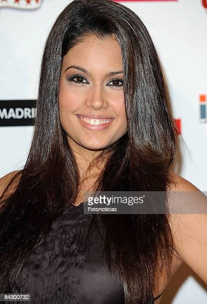 Miss Spain 2008 Patricia Rodriguez attends the 14th Jose Maria Forque Cinema Awards ceremony at the Palacio de Congresos on January 14 2009 in Madrid...