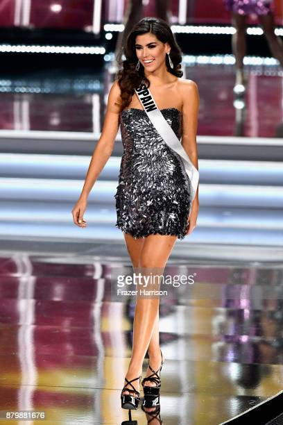 Miss Spain 2017 Sofia del Prado competes during the 2017 Miss Universe Pageant at The Axis at Planet Hollywood Resort Casino on November 26 2017 in...